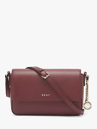 DKNY Bryant Leather Flap Cross Body Bag, Aged Wine