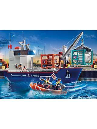 Playmobil 70769 Cargo Ship & Boat