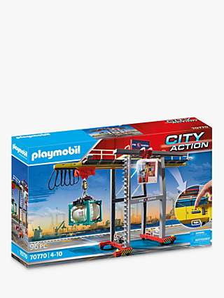 Playmobil City Action 70770 Cargo Crane with Container