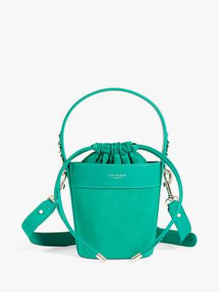 Ted Baker Equesti Leather Bucket Bag, Emerald