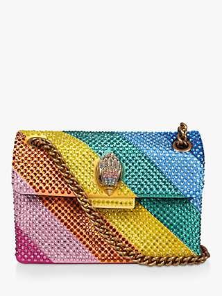 Kurt Geiger London Mini Kensington Rainbow Shoulder Bag, Multi