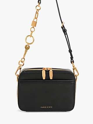 CHARLES & KEITH Chunky Chain Handle Cross Body Bag