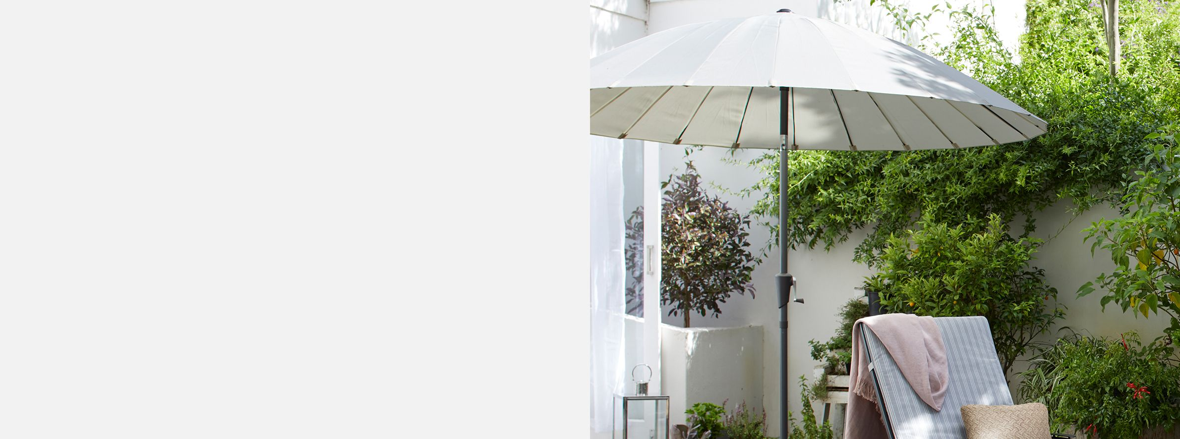 a25b7b721dfd Parasols | Shop Round & Rectangle Garden Parasols at John Lewis