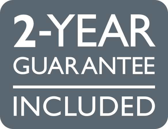 2-year guarantee included