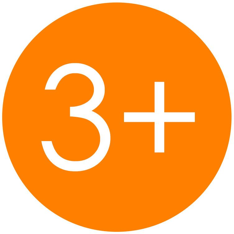 3 Plus age guideline safety symbol