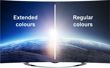 4K Ultra HD TVs also support extended colours