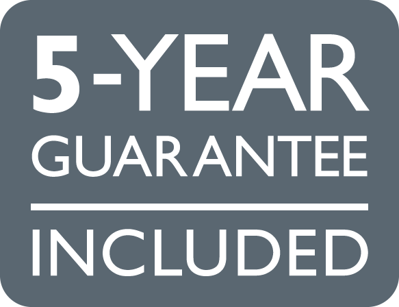 5 years guarantee included