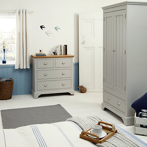 Bedroom Furniture John Lewis buy john lewis helston 2-door 1-drawer wardrobe, grey | john lewis