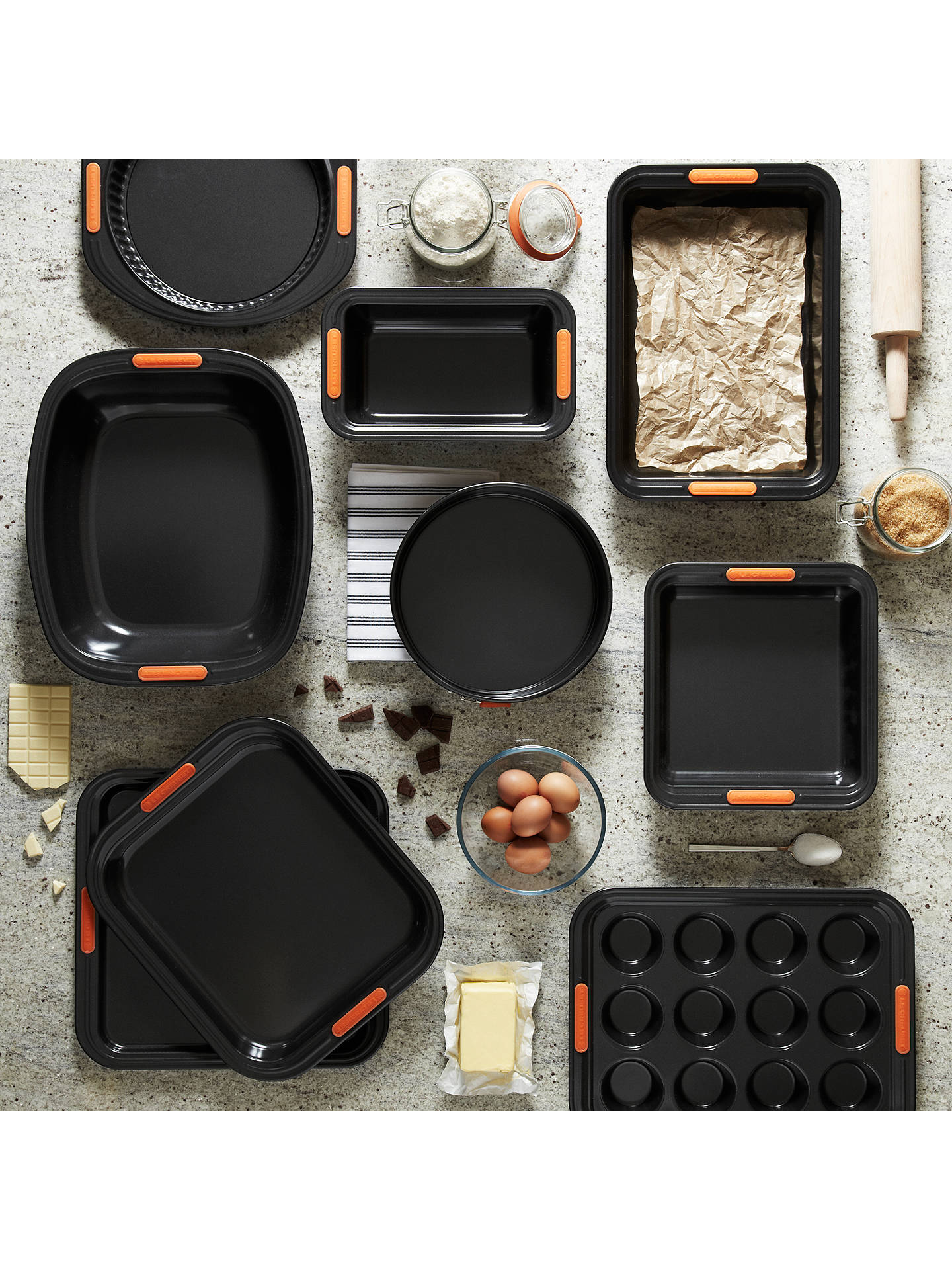 BuyLe Creuset 12 Cup Bun Tray, Black Online at johnlewis.com