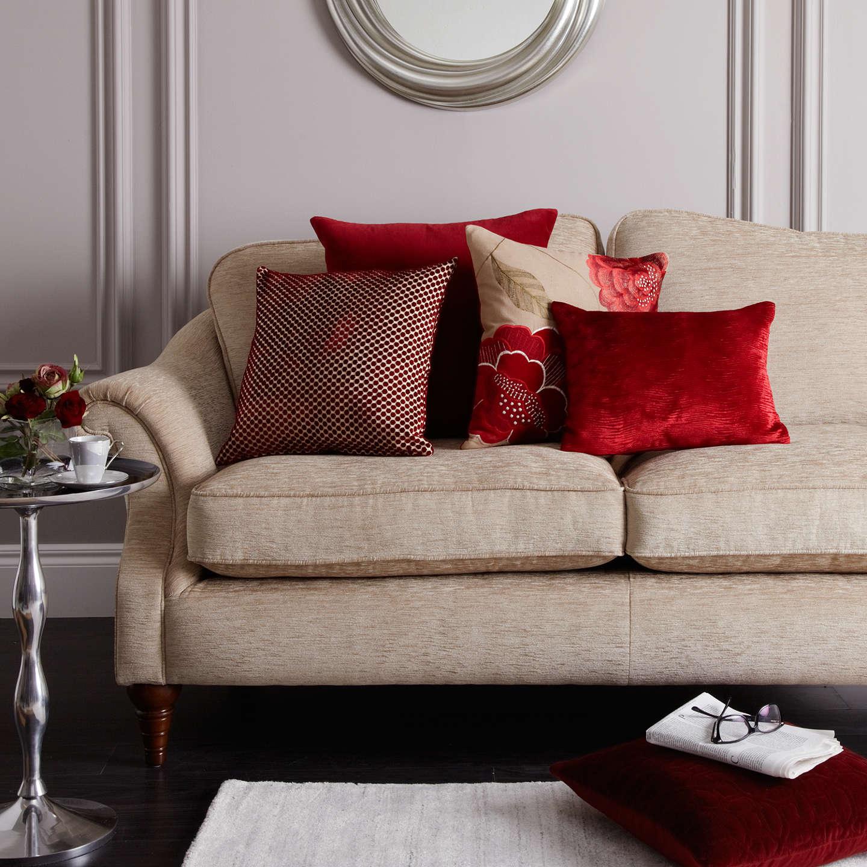 john lewis mini spot cushion red at john lewis. Black Bedroom Furniture Sets. Home Design Ideas