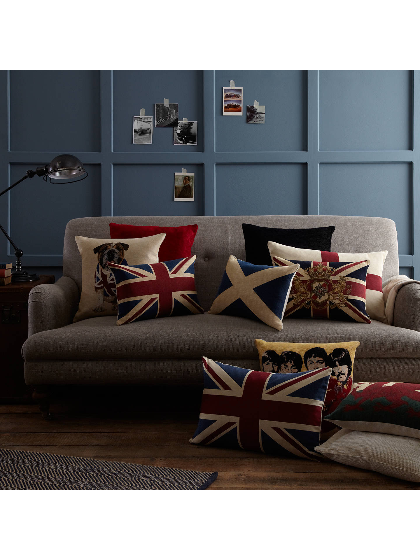 Buy John Lewis Saltire Scottish Flag Cushion, Blue Online at johnlewis.com