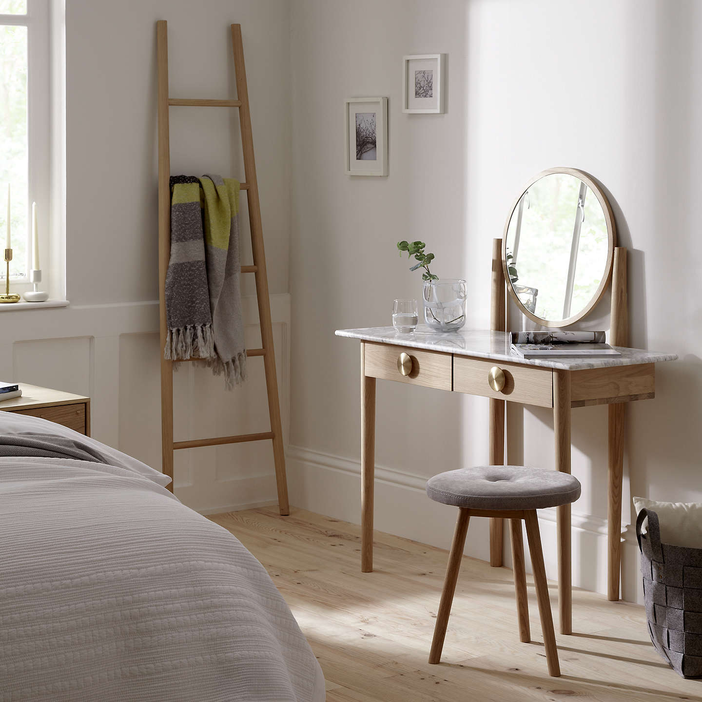 Bethan gray for john lewis genevieve marble top dressing table at john lewis for John lewis home design service reviews