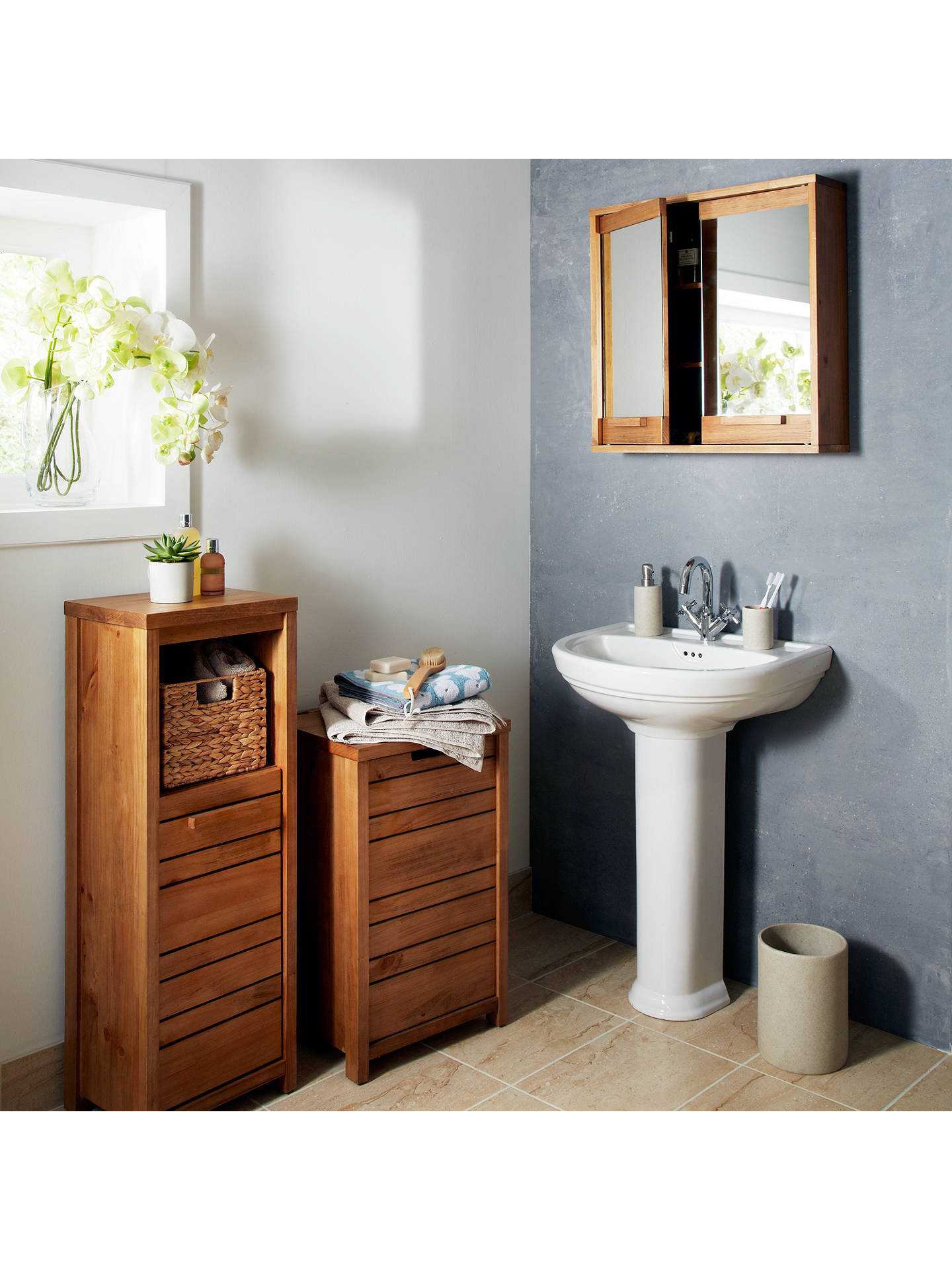 John Lewis Cayman Double Mirrored Bathroom Cabinet At John