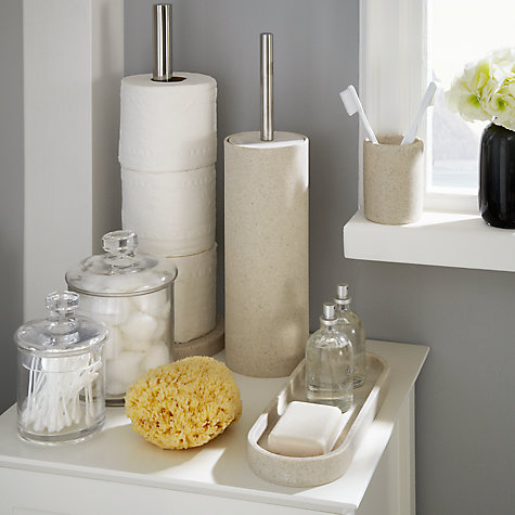 Buy john lewis dune accessories tray sandstone john lewis for Bathroom storage ideas john lewis