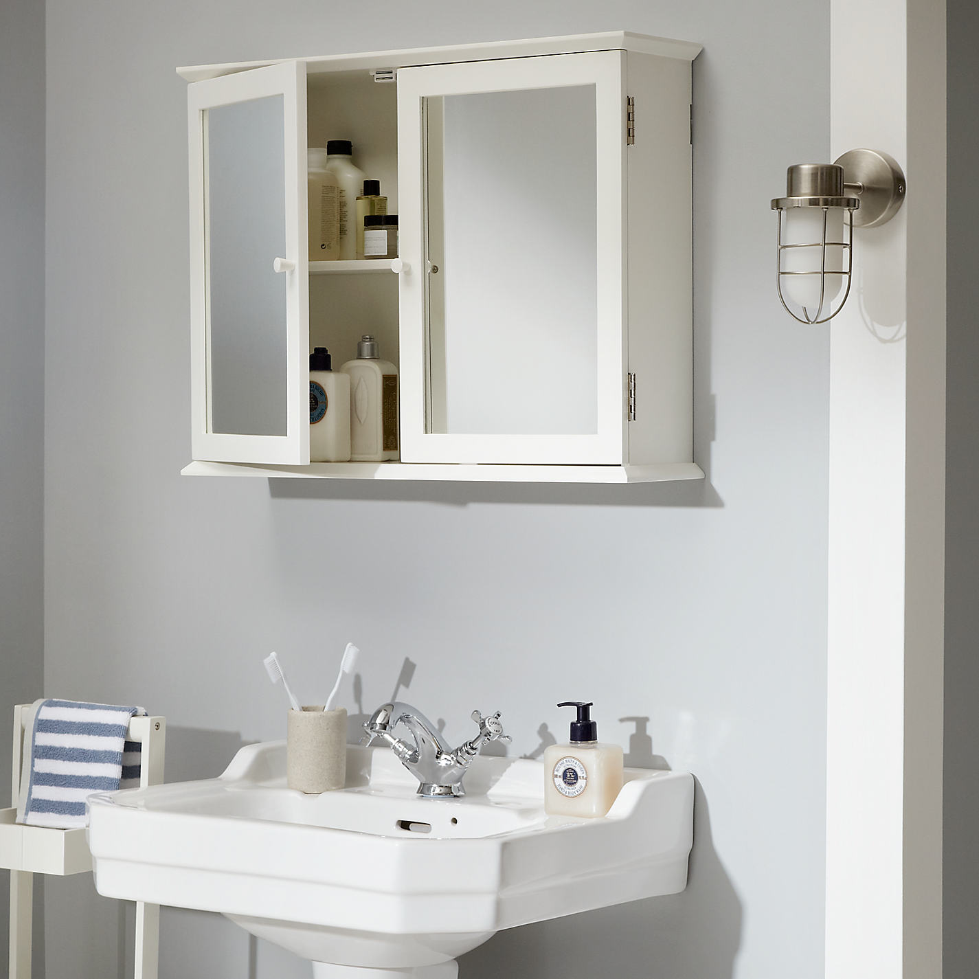 buy john lewis st ives double mirrored bathroom cabinet online at johnlewiscom