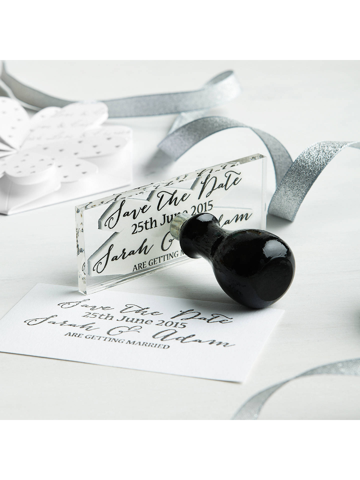 CCA Lotus Flower Personalised Wedding Invitations, Pack of 60 at ...
