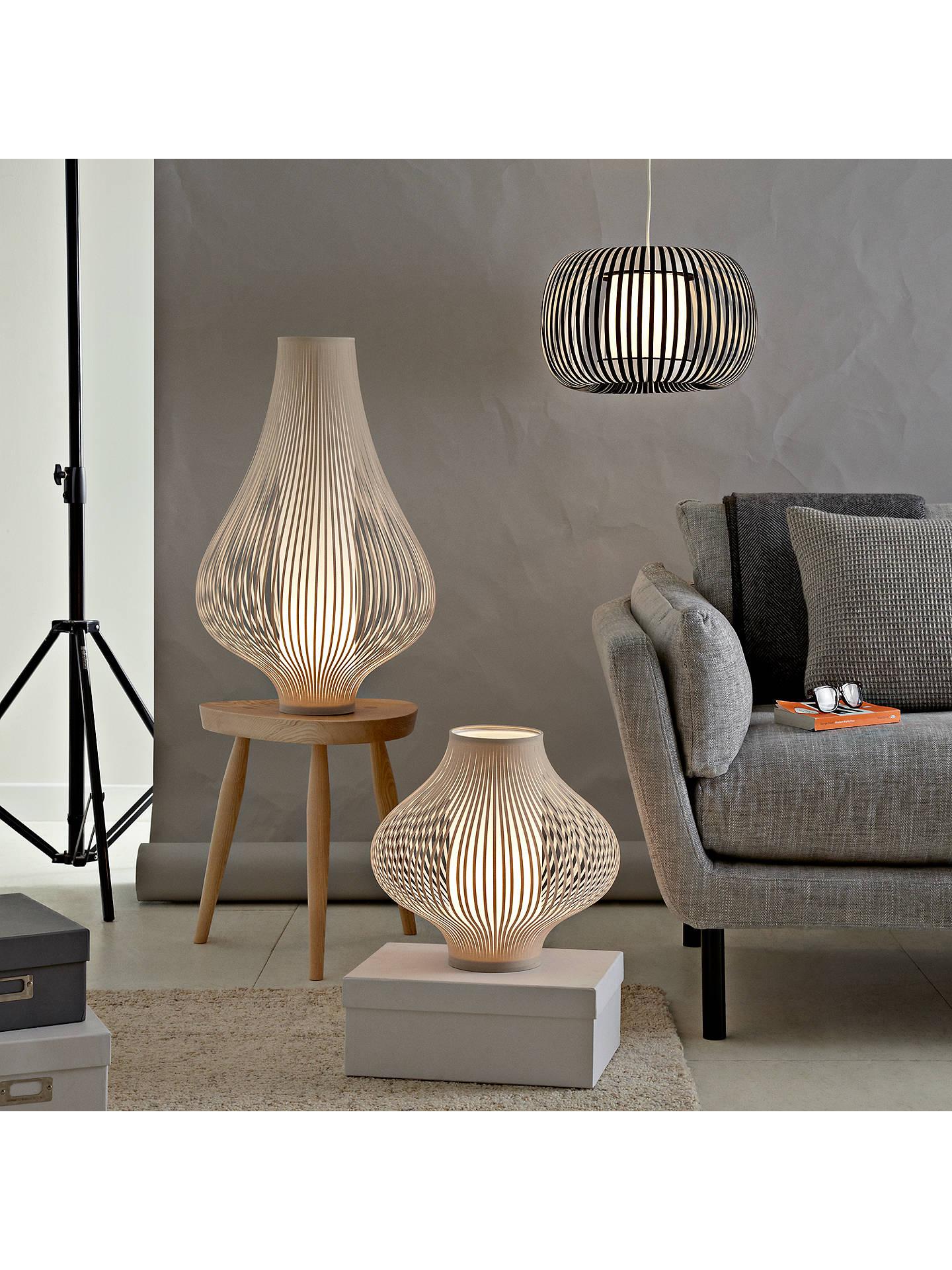 John Lewis & Partners Harmony Ribbon Small Table Lamp, Natural At John Lewis & Partners