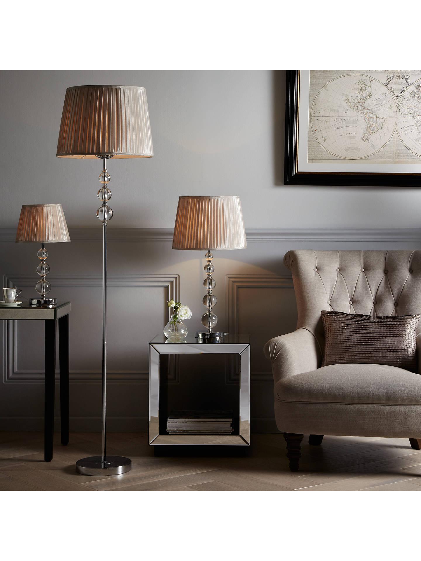 John Lewis & Partners Lavinia Glass Ball Table Lamp, Clear At John Lewis & Partners