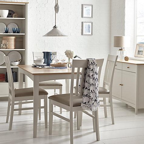 Buy John Lewis Alba Slat Back Dining Chair Soft Grey Oak