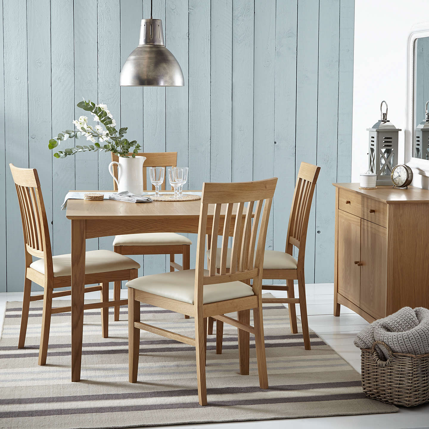 BuyJohn Lewis Alba 4 6 Seater Extending Dining Table Oak Online At Johnlewis
