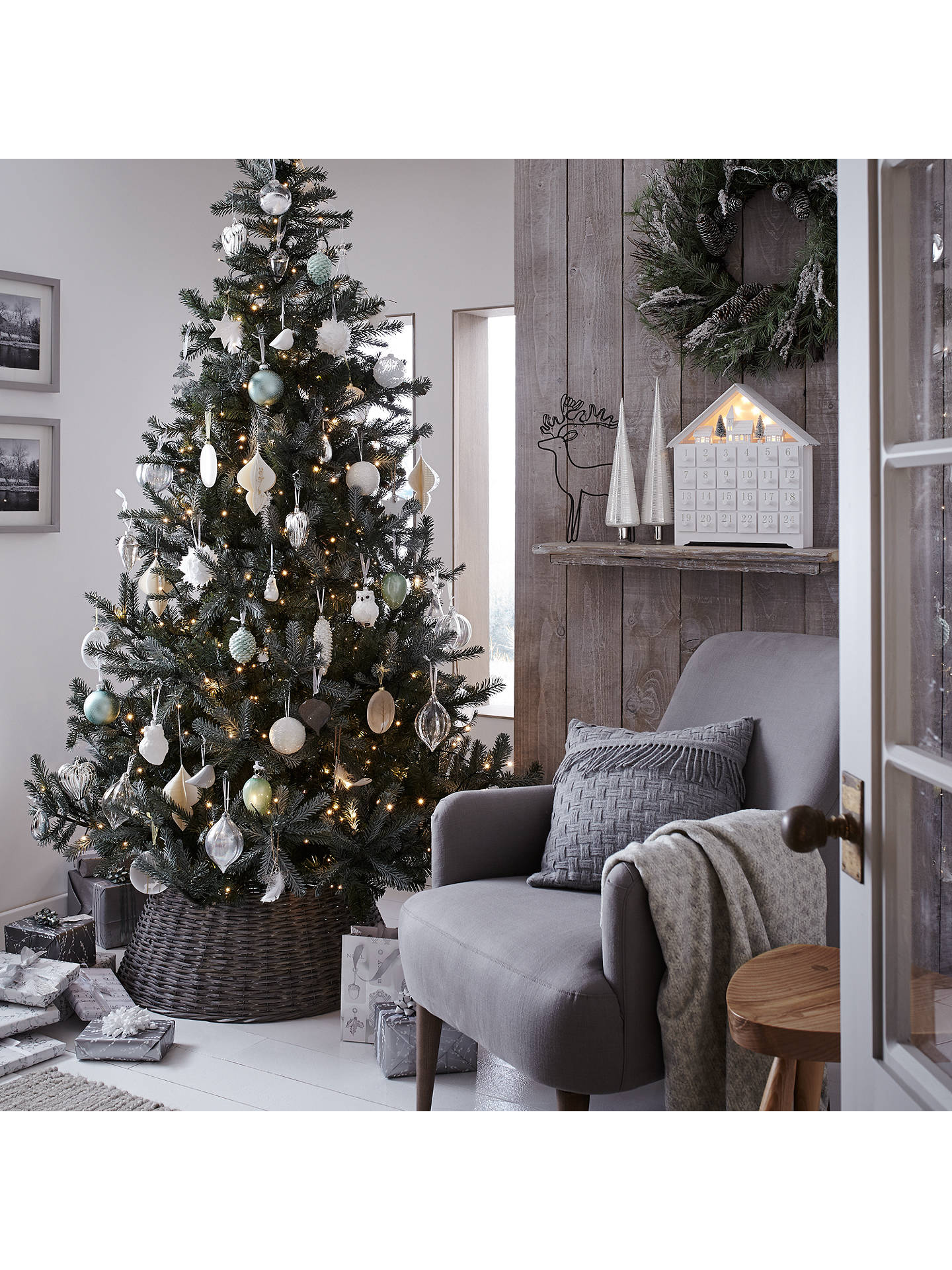 John Lewis Christmas Tree.John Lewis Helsinki 7ft Silver Forest Spruce Christmas Tree