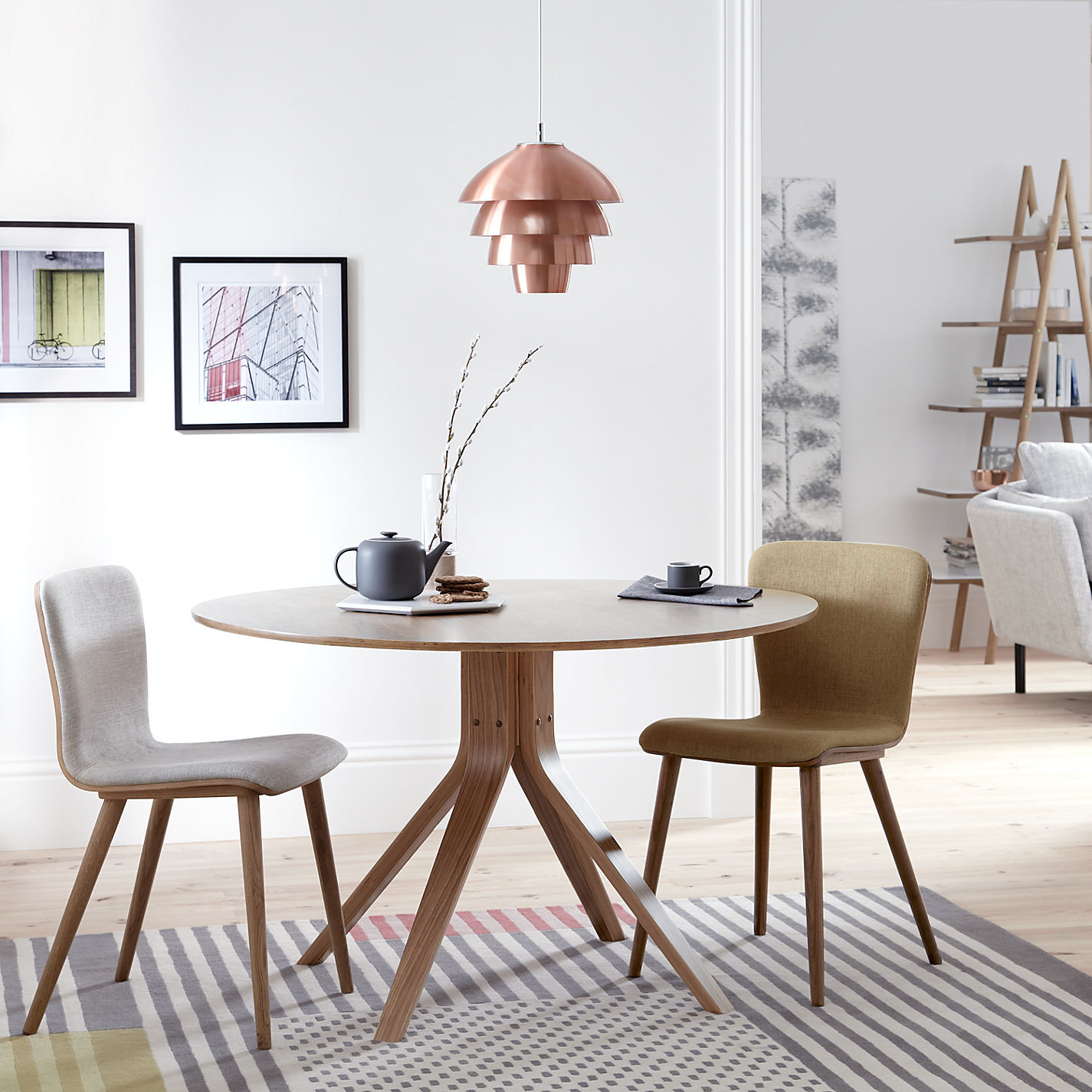 Buy John Lewis Radar 6 Seater Round Dining Table Walnut Online At Johnlewis