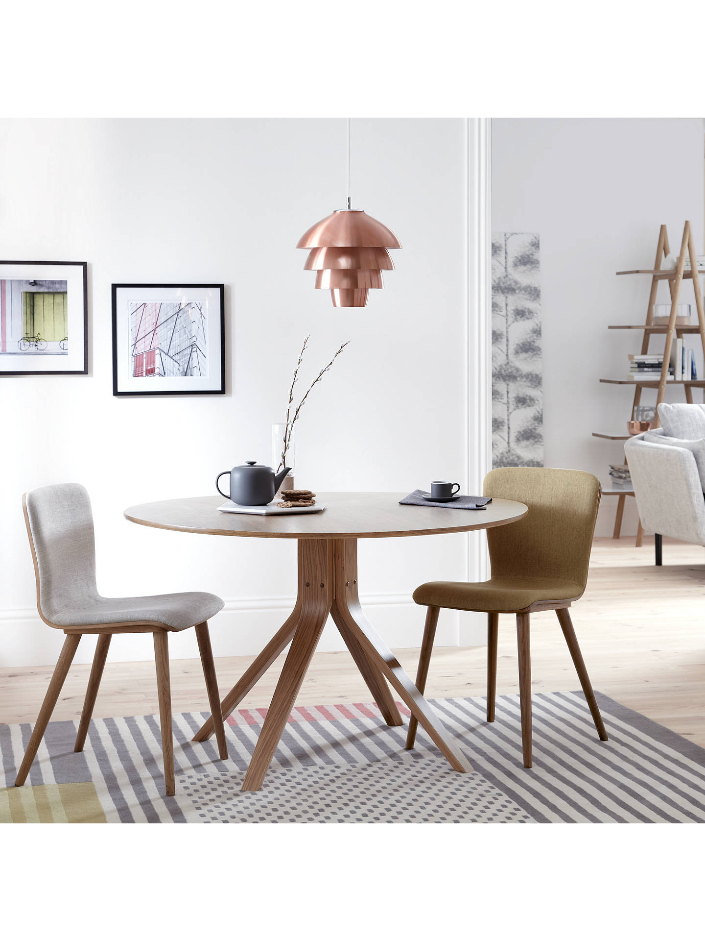 Buyhouse by john lewis radar 6 seater round dining table walnut online at johnlewis