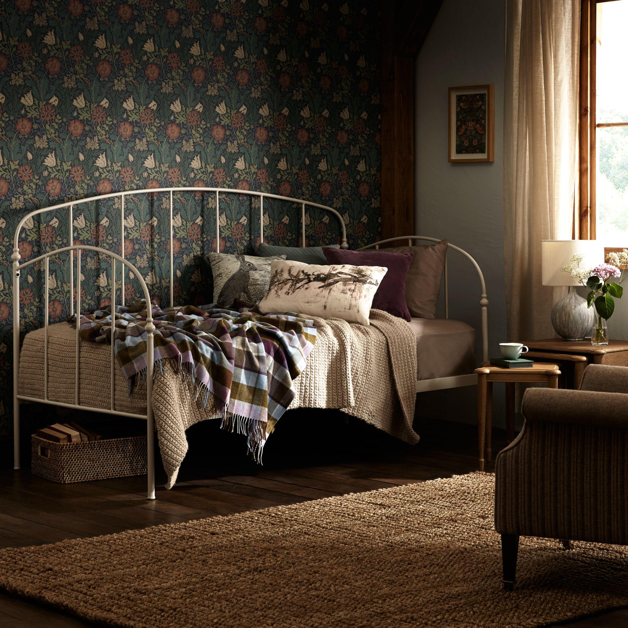 - John Lewis Resto Metal Day Bed Frame, Cream At John Lewis & Partners