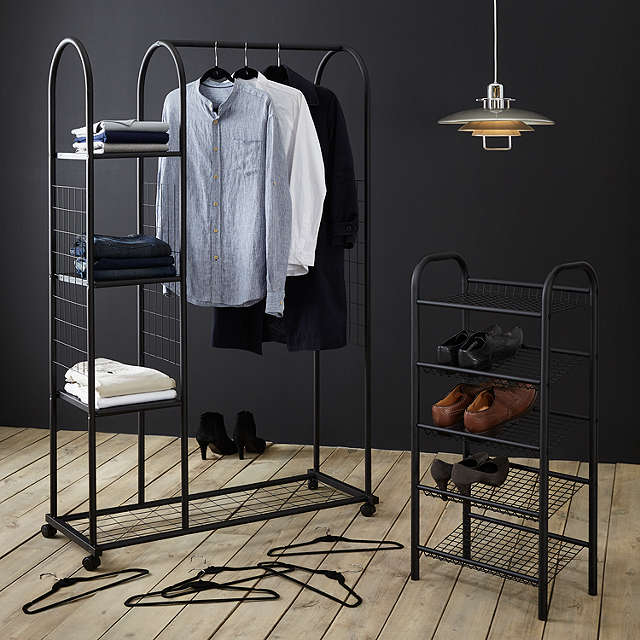 BuyJohn Lewis 5 Tier Shoe Rack, Black Online at johnlewis.com