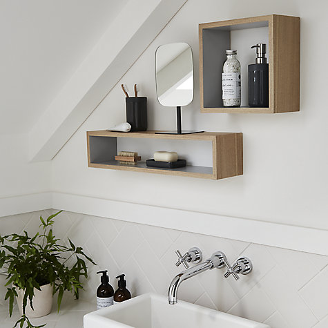 buy design project by john lewis no008 square bathroom wall shelf online at johnlewis