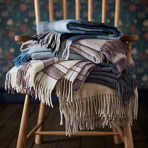 Buy John Lewis 100% Lambswool Throw Online at johnlewis.com