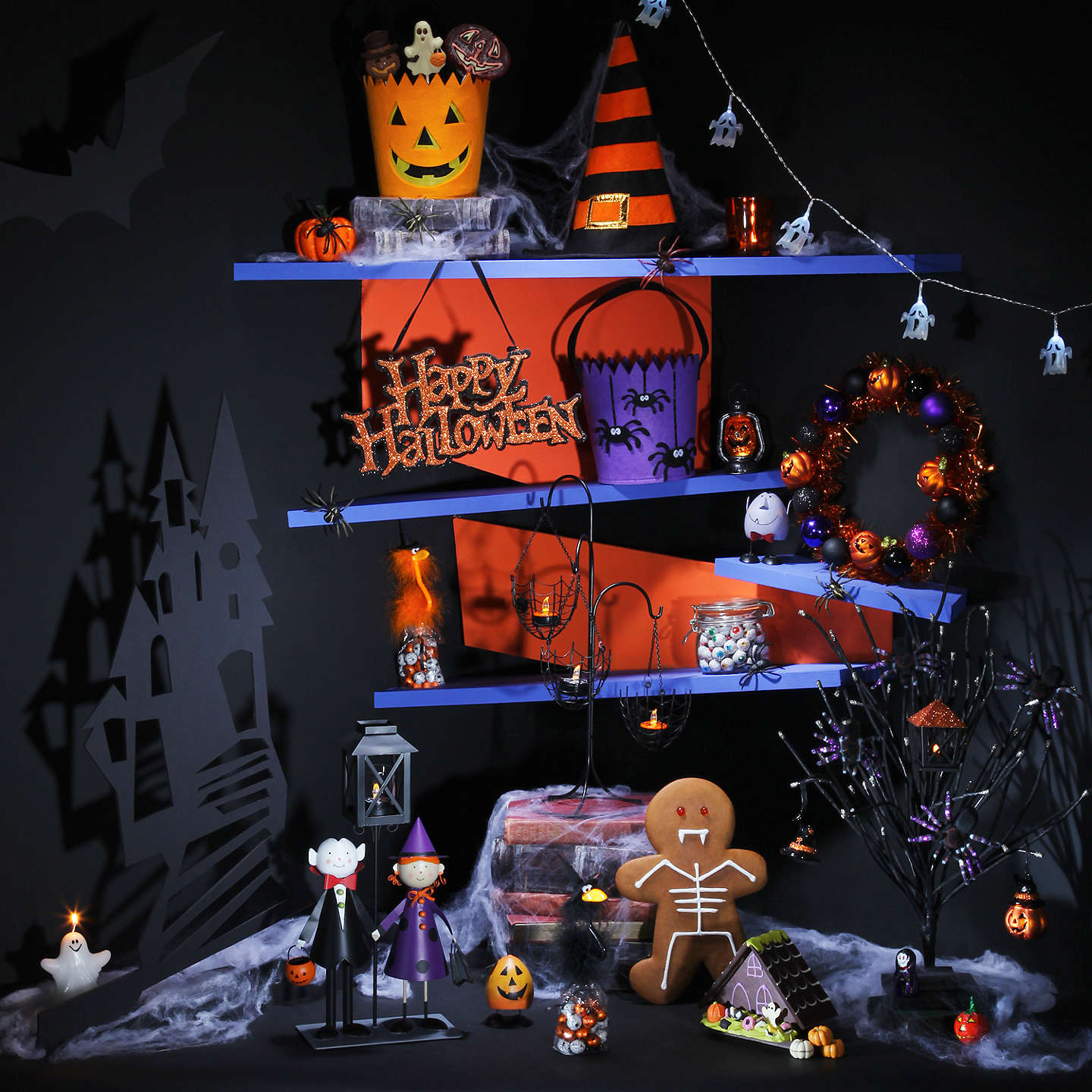 Buyjohn Lewis Halloween Wreath Online At Johnlewiscom