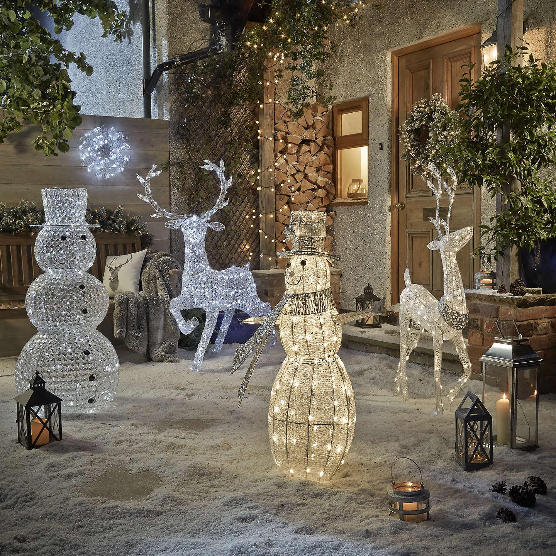 Outside Christmas Lights John Lewis: John Lewis Large Outdoor Acrylic Snowman Light At John Lewis