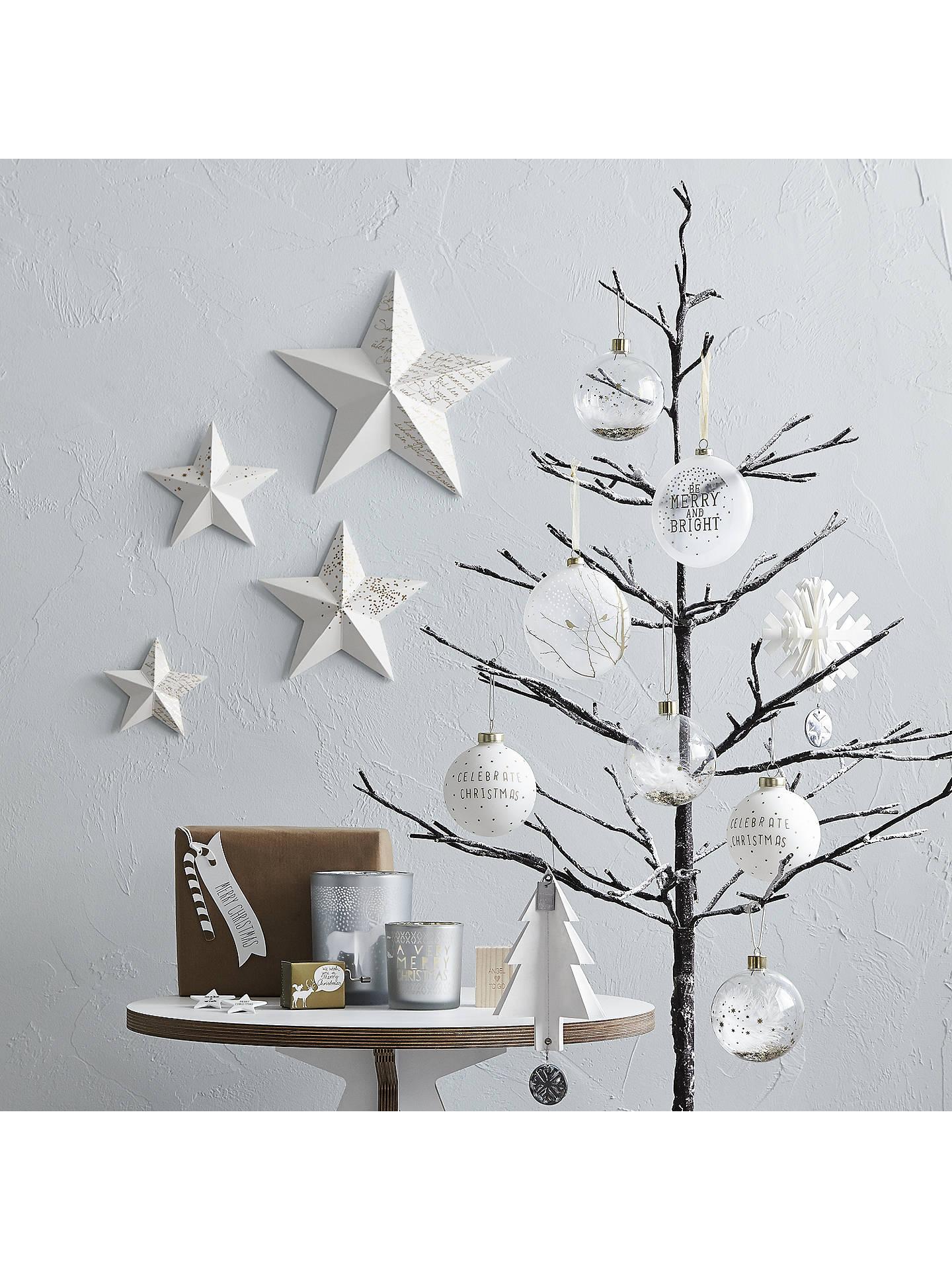 John Lewis 6ft Pre-Lit Snowy Twig Christmas Tree, White at John Lewis & Partners