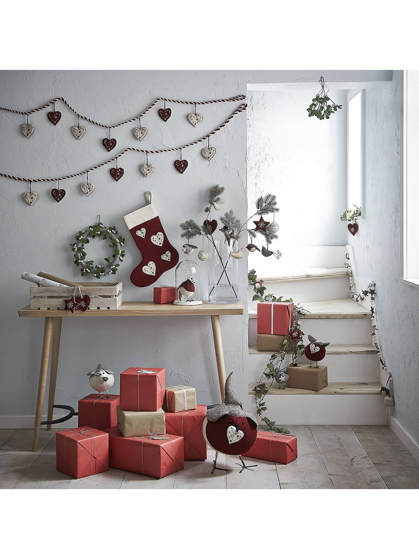 Buy Fiona Walker Snowflake Heart, Red Online at johnlewis.com