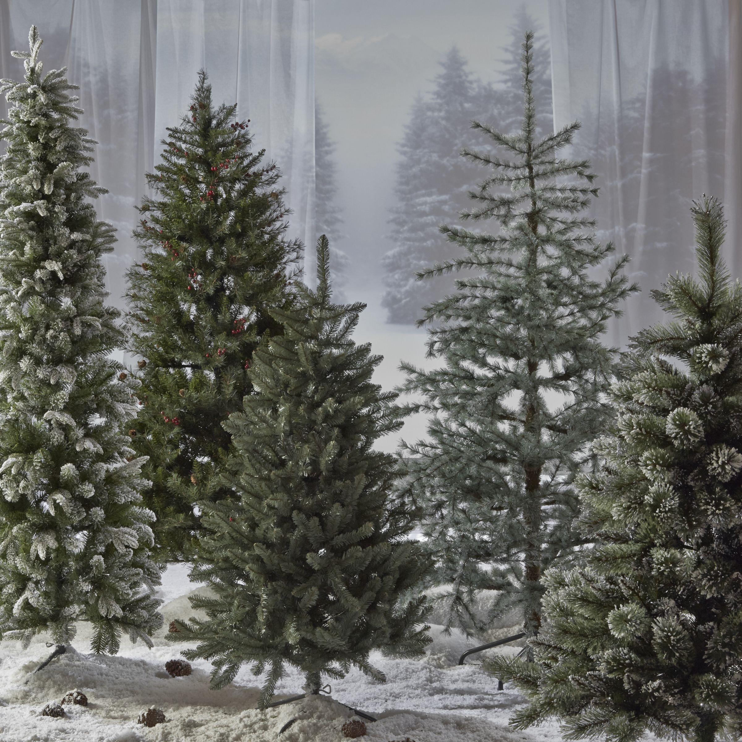 John Lewis Vintage Blue Christmas Tree 7ft At John Lewis Partners