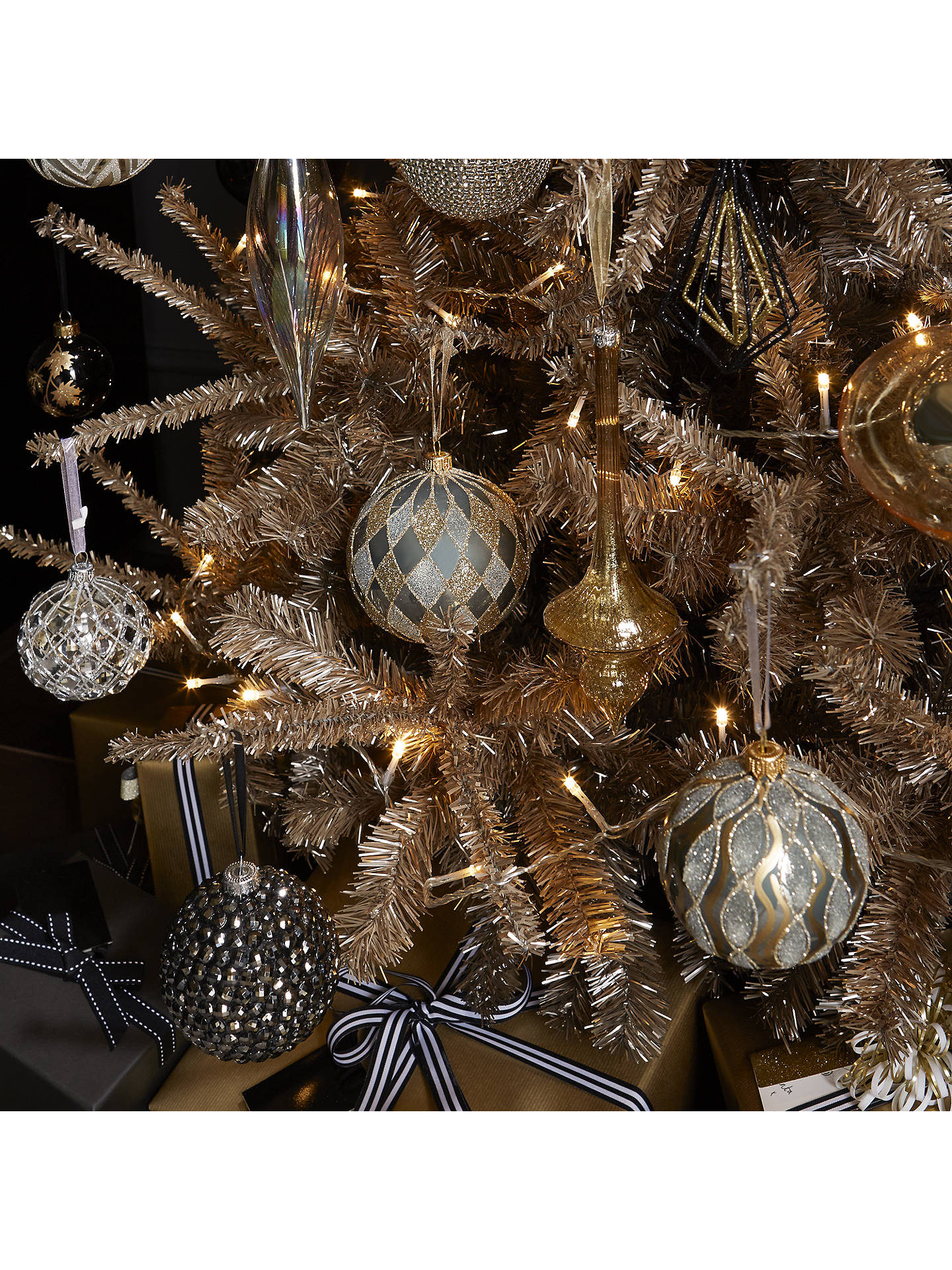 John Lewis Champagne Gold Christmas Tree 7ft At John Lewis Partners