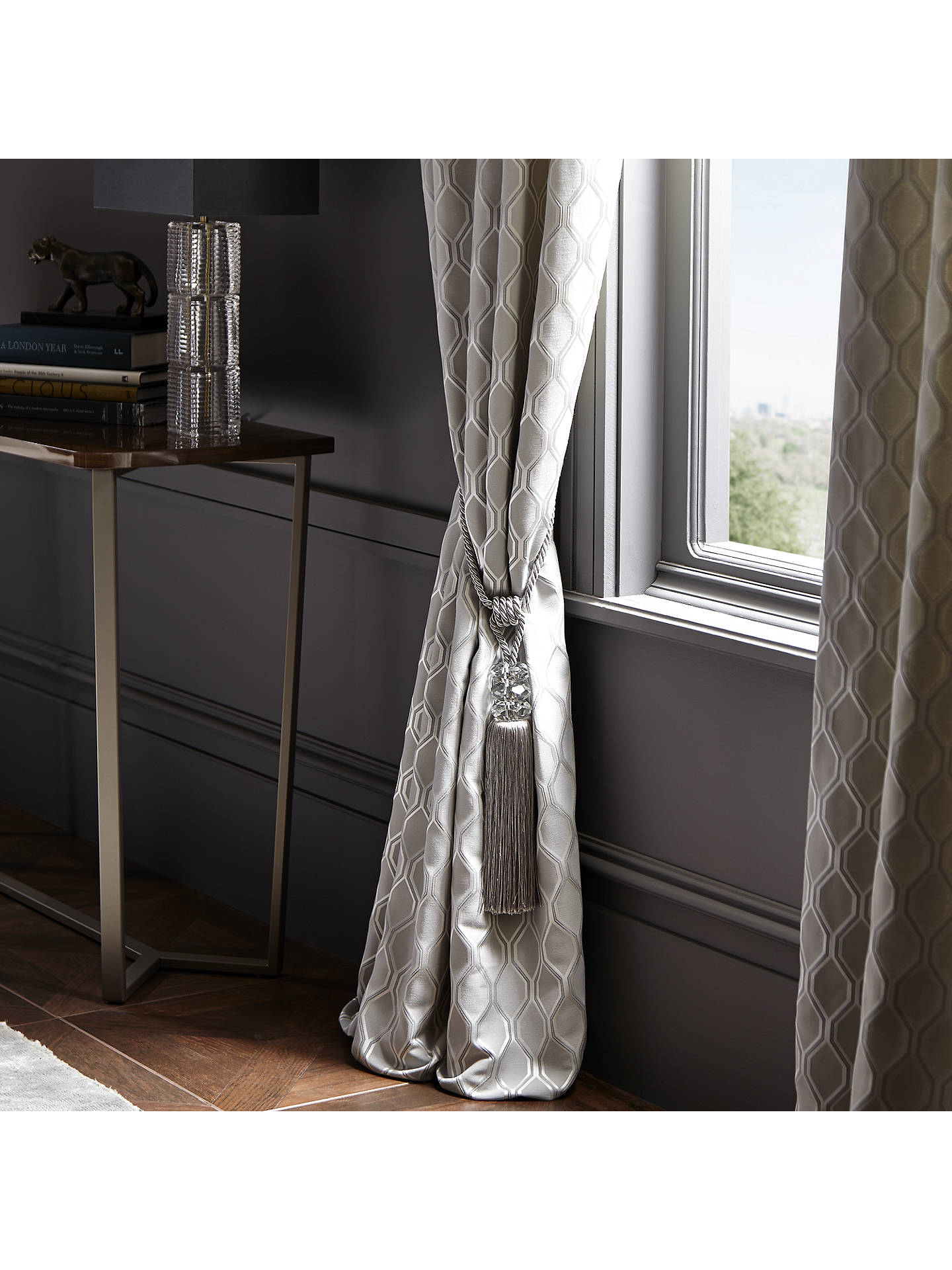 Buy John Lewis & Partners Hanbury Vinyl Wallpaper, Pewter Online at johnlewis.com