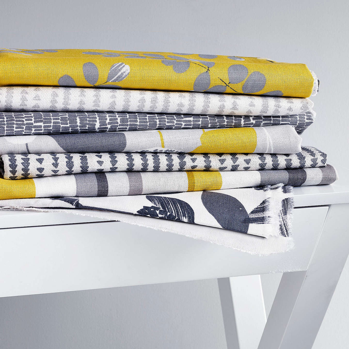 BuyJohn Lewis Minna Furnishing Fabric, Steel Online at johnlewis.com