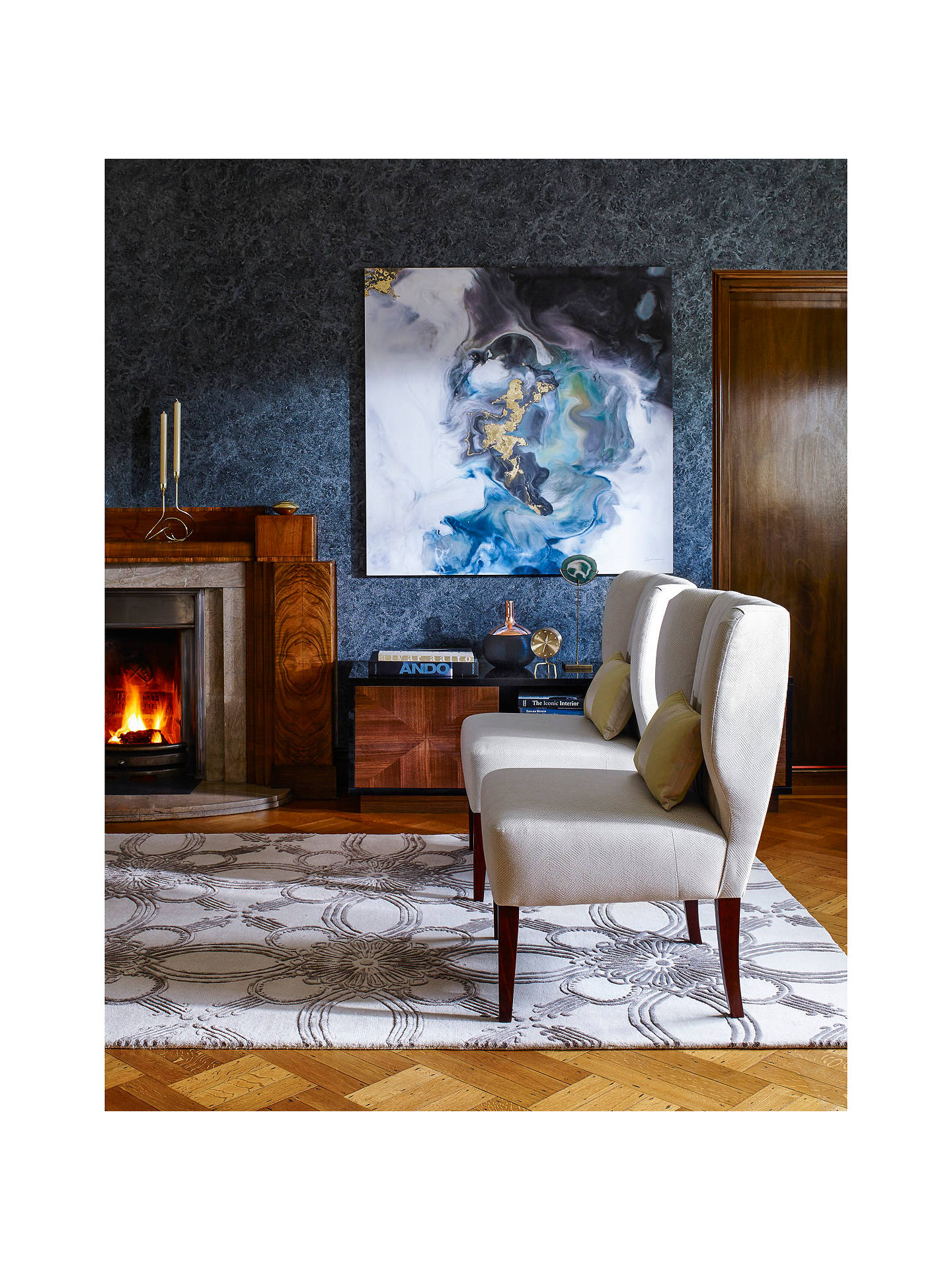 Buy Anthology Lacquer Wallpaper, Sapphire, 111135 Online at johnlewis.com