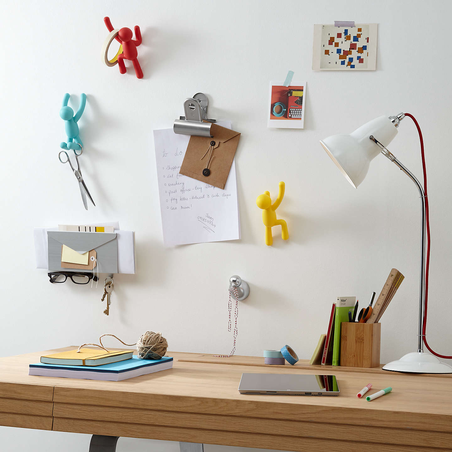 BuyUmbra Buddy Set Of 3 Hanging Coat Hooks, White Online at johnlewis.com