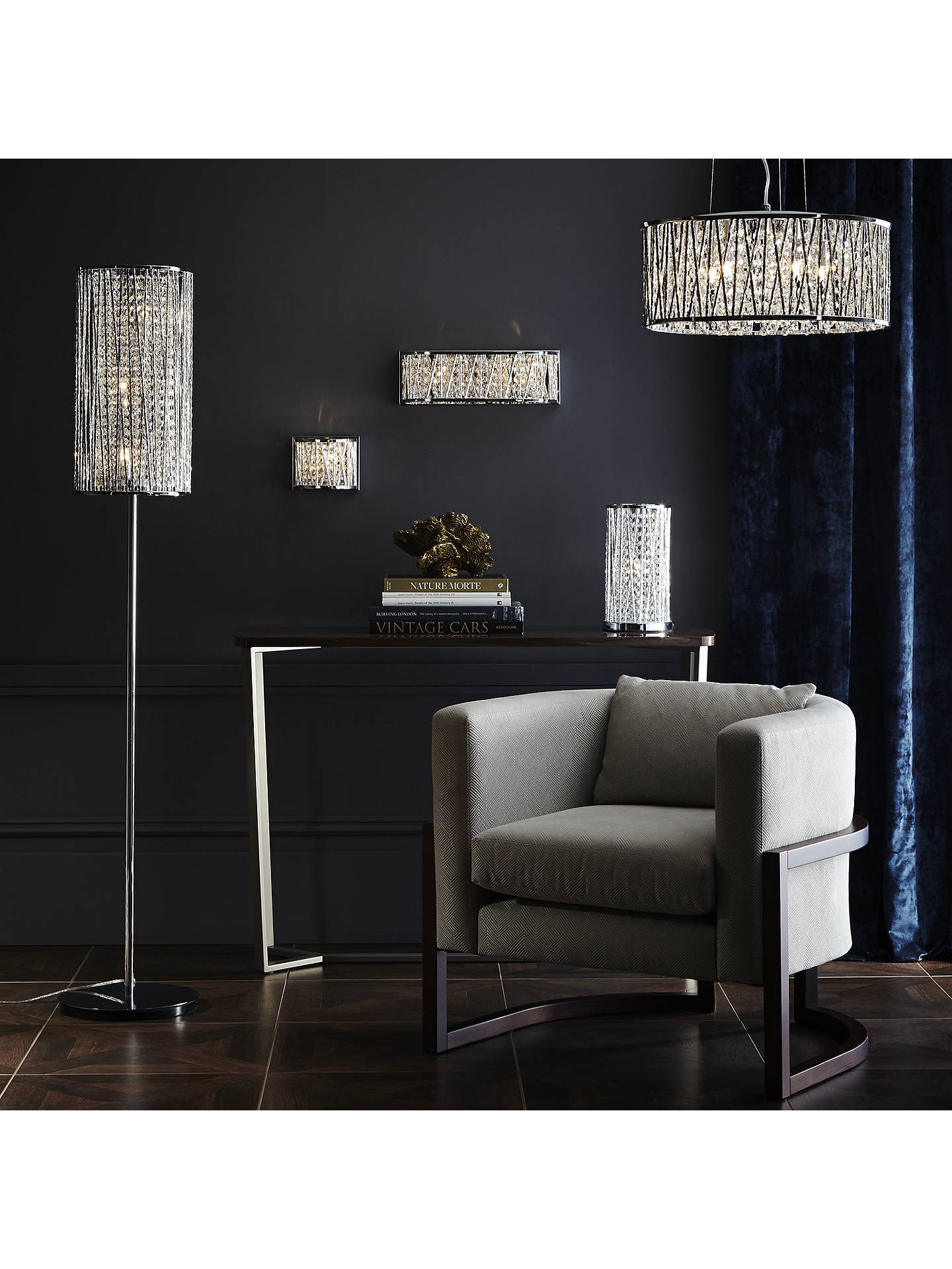 John Lewis & Partners Emilia Crystal Drum Floor Lamp