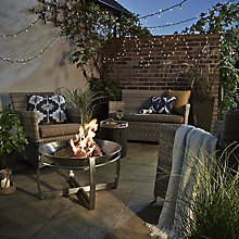 Buy John Lewis Dante 2-Seater Outdoor Sofa Lounging Set, Grey Online at johnlewis.com