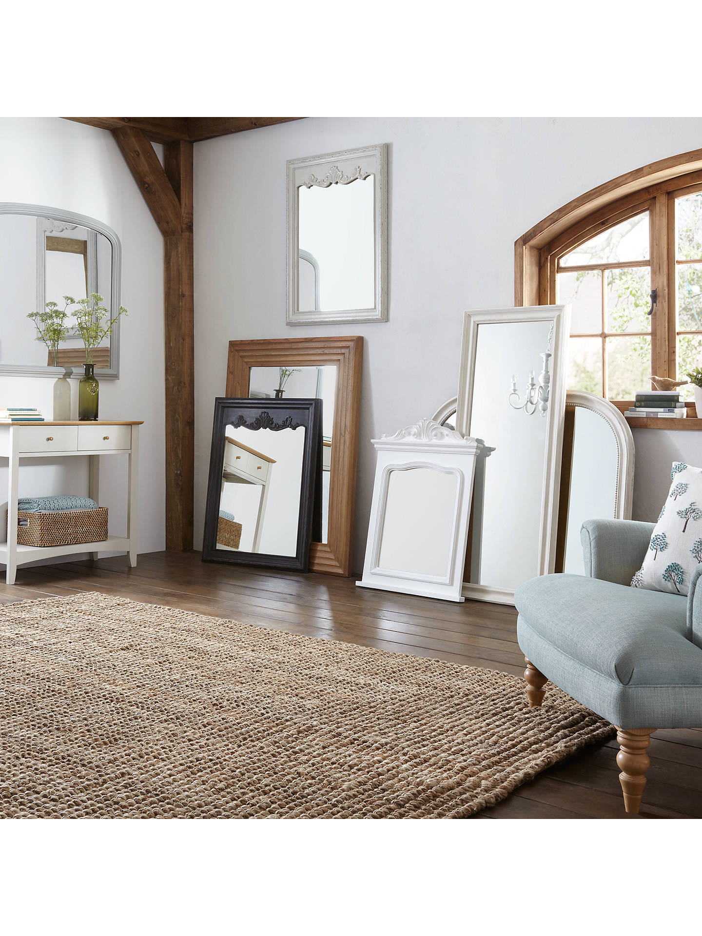 Buy John Lewis & Partners Distressed Full Length Mirror, 132 x 52cm, Cream Online at johnlewis.com