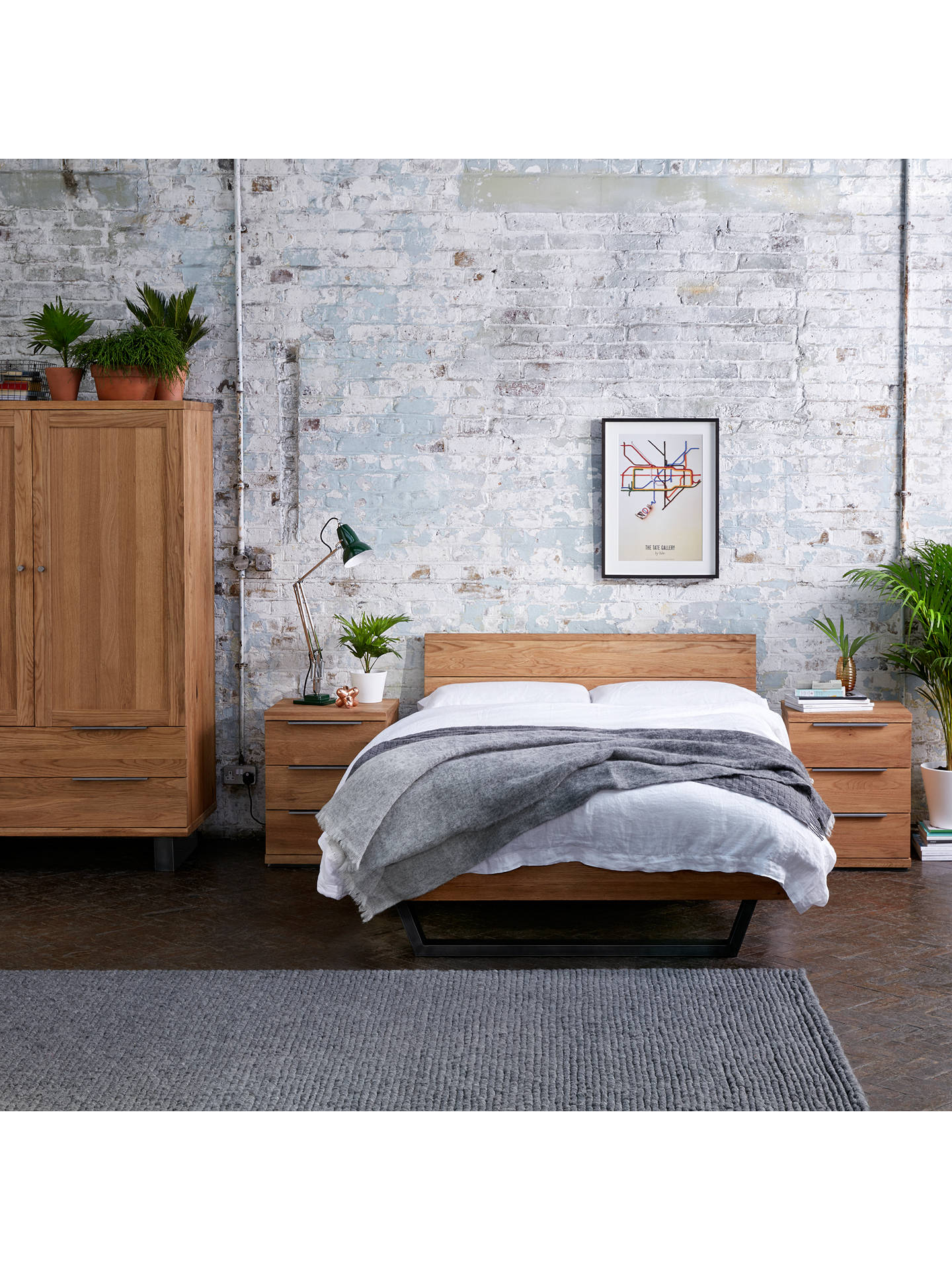 John Lewis Partners Calia Bed Frame King Size At John Lewis