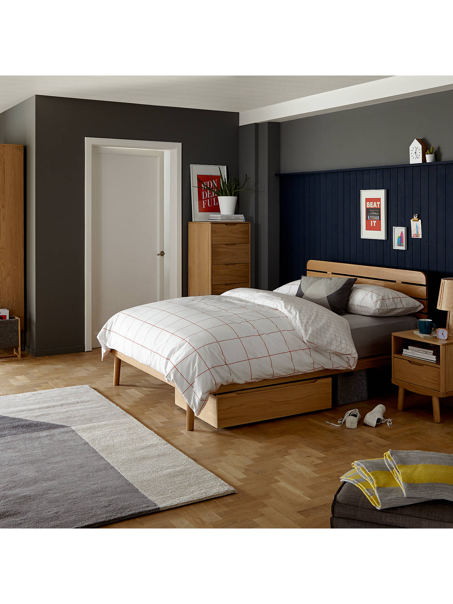 House By John Lewis Bow Slatted Headboard Bed Frame King Size At