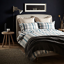 Buy John Lewis Croft Collection Appin Check Cotton Bedding Online at johnlewis.com