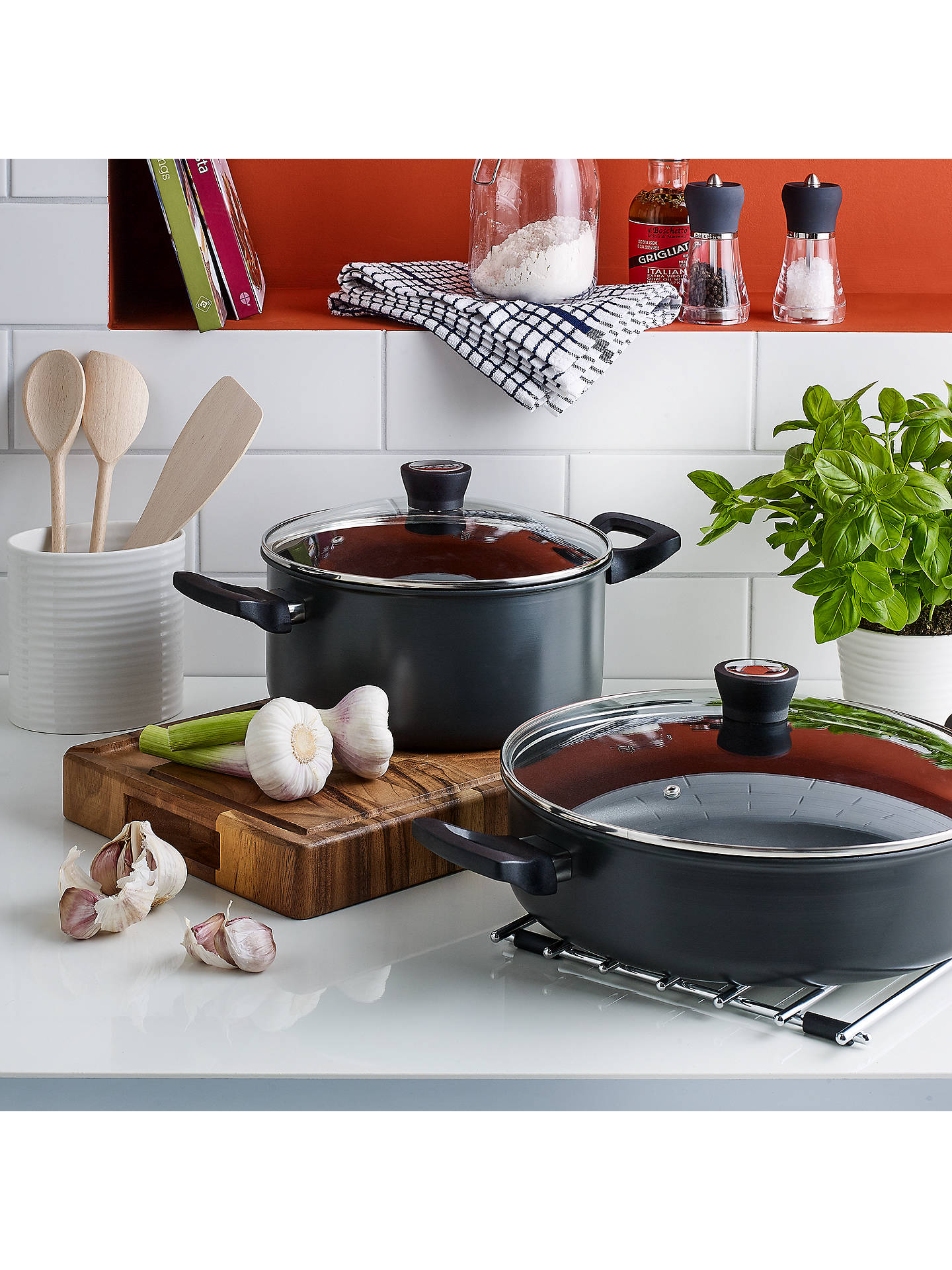 BuyJohn Lewis & Partners Hard Anodised Aluminium Non-Stick Stockpot, 24cm Online at johnlewis.com