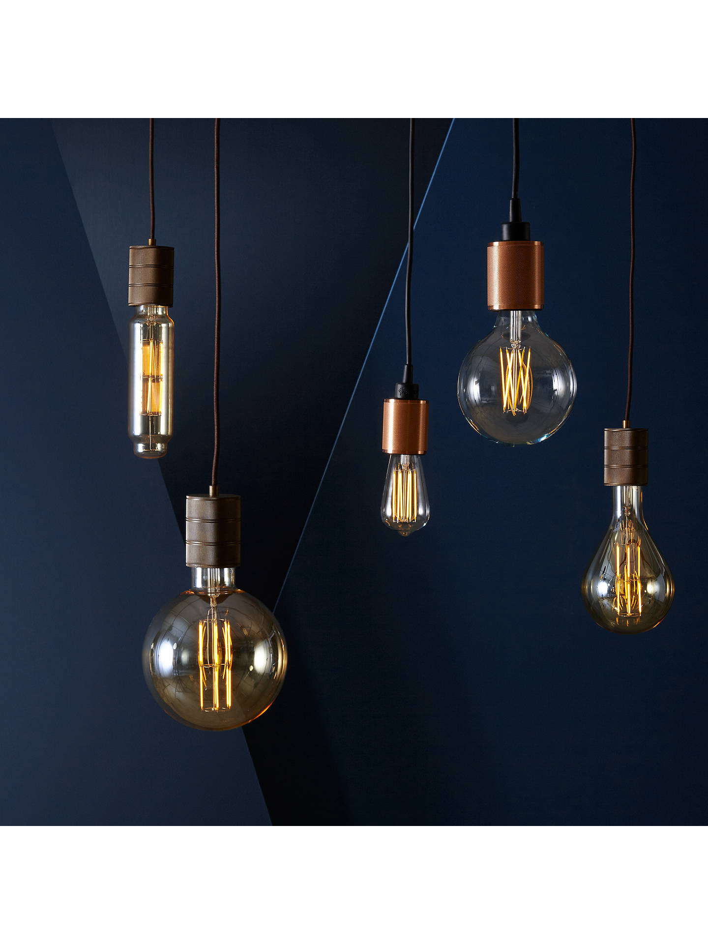 BuyCalex XXL LED Filament Globe Bulb and Pendant Set, Clear/Gold Online at johnlewis.com