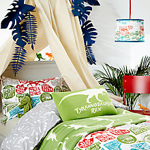 Buy little home at John Lewis Prehistoric Explorer Duvet Cover and Pillowcase Set, Single Online at johnlewis.com